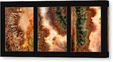 Agate Triptych 1 Canvas Print
