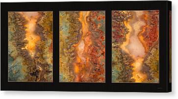 Agate Triptych 6 Canvas Print