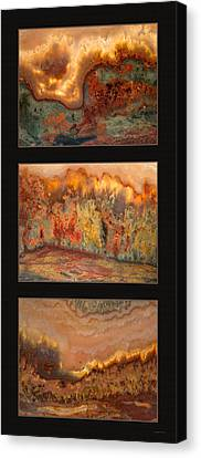 Agate Triptych 7 Canvas Print by Leland D Howard