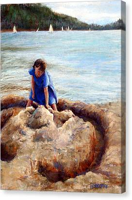 Sand Castles Canvas Print - Age Of Innocence by Mary Giacomini