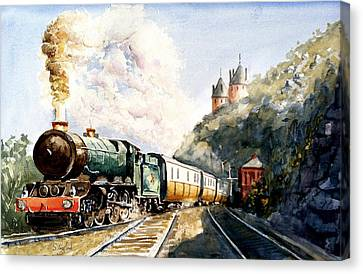 Canvas Print featuring the painting Age Of Steam by Steven Ponsford