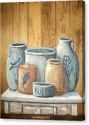 Aged Stoneware Canvas Print