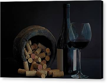 Canvas Print featuring the photograph Aged Wine by Marwan Khoury