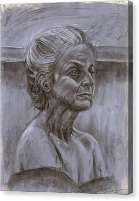 Aged Woman Canvas Print by Samantha Geernaert
