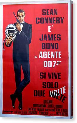 Arrest Canvas Print - Agente 007 Si Vive Solo Due Volte by Georgia Fowler