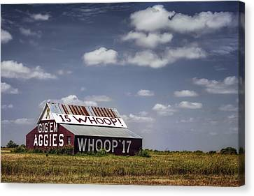 Aggie Barn Canvas Print by Joan Carroll