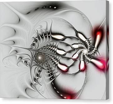 Aggressive Grey Canvas Print