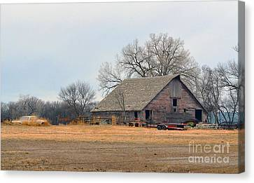 Aging Red Barn Canvas Print