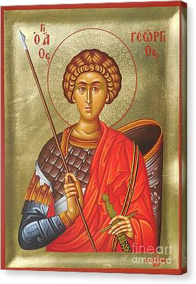Agios Georgios - Saint George Canvas Print by Theodoros Patrinos