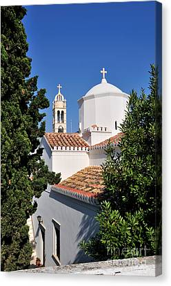 Agios Nikolaos Church In Spetses Town Canvas Print by George Atsametakis