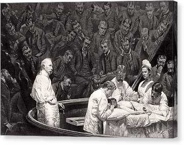 Agnew's Surgical Clinic, 1889 Canvas Print by Science Photo Library