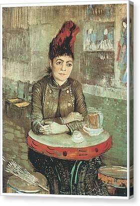 Agostina Segatori Sitting In The Cafe De Tambourin Canvas Print by Vincent Van Gogh