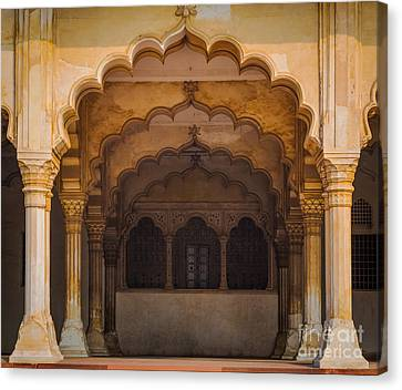 Agra Fort Arches Canvas Print