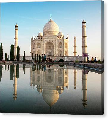 Agra, India The Taj Mahal Composite Canvas Print by Janet Muir