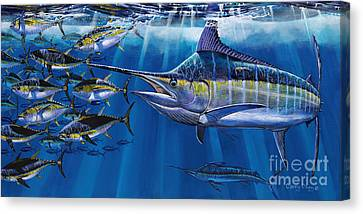 Swordfish Canvas Print - Agressor Off00140 by Carey Chen