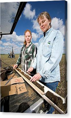 Agricultural Soil Sampling Canvas Print by Stephen Ausmus/us Department Of Agriculture