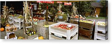 Agriculture - Country Fruit Stand Canvas Print by Charles Blakeslee