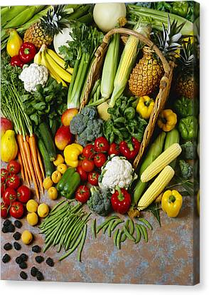 Agriculture - Mixed Fruit Canvas Print by Ed Young