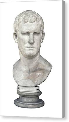 Agrippa. 63 Bc - 12 Bc. Bust. Roman Canvas Print