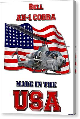 Ah-1 Cobra Made In The Usa Canvas Print