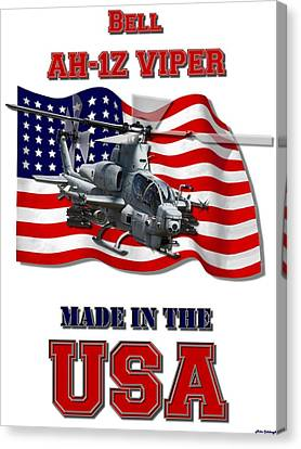 Ah-1z Viper Made In The Usa Canvas Print