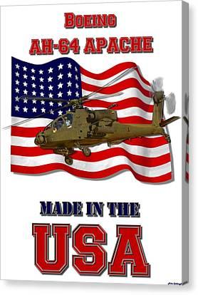 Ah-64 Apache Made In The Usa Canvas Print