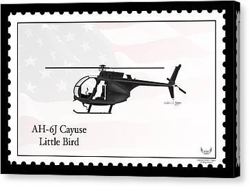 Ah-6j Canvas Print - Ah-6j Cayuse Little Bird by Arthur Eggers