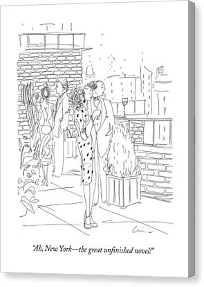 Ah, New York - The Great Unfinished Novel! Canvas Print by Richard Cline