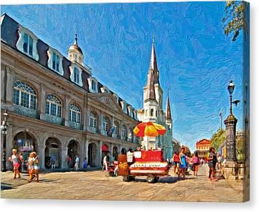 Ahh...new Orleans Impasto Canvas Print by Steve Harrington