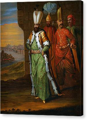 Ahmed IIi And His Retinue Canvas Print by Celestial Images