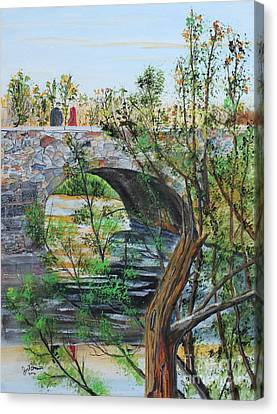 Jack Brauer Canvas Print - Ahnapee River Crossing by Jack G  Brauer
