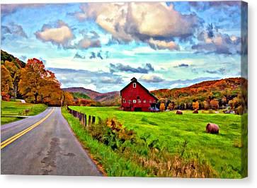 Ah...west Virginia Oil Canvas Print by Steve Harrington