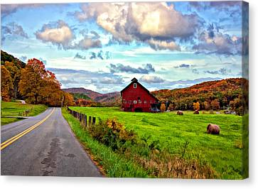 Ah...west Virginia Painted Canvas Print by Steve Harrington