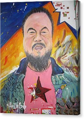 Ai Weiwei Canvas Print by Erik Franco