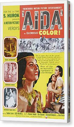 Aida, Us Poster Art, From Left Sophia Canvas Print by Everett