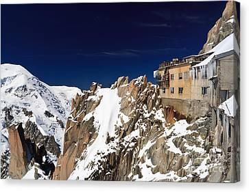 Canvas Print featuring the photograph Aiguille Du Midi -  Mont Blanc Massif by Antonio Scarpi