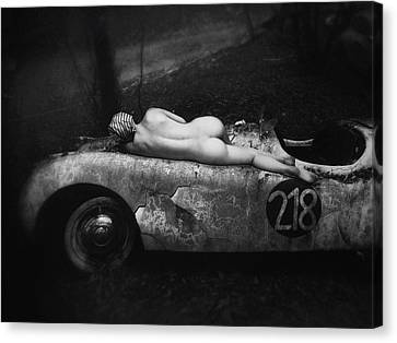 Abandoned Cars Canvas Print - Aimee & Jaguar by Holger Droste
