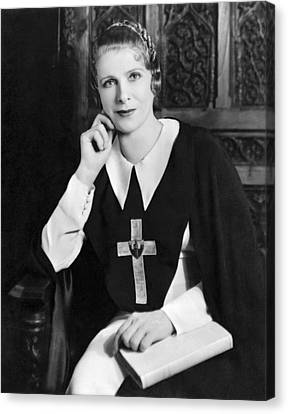 Evangelical Canvas Print - Aimee Semple Mcpherson by Underwood Archives