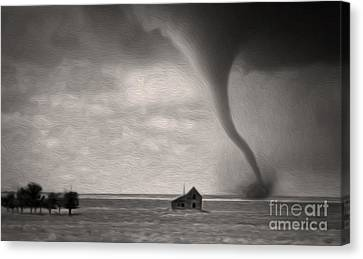 Canvas Print featuring the painting Ain't It Grand The Winds Stop Blowing by Gregory Dyer