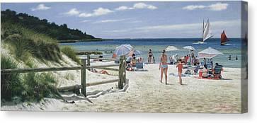 Sailing Canvas Print - Ain't Life Grand - Old Silver Beach by Julia O'Malley-Keyes