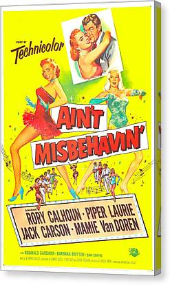 Aint Misbehavin, Us Poster, Inset Piper Canvas Print by Everett