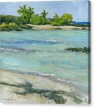Ai'opio Beach Canvas Print by Stacy Vosberg