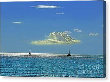 Canvas Print featuring the photograph Air Beautiful Beauty Blue Calm Cloud Cloudy Day by Paul Fearn