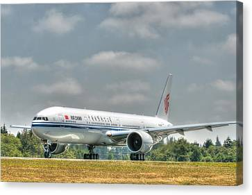 Air China 777 Canvas Print by Jeff Cook