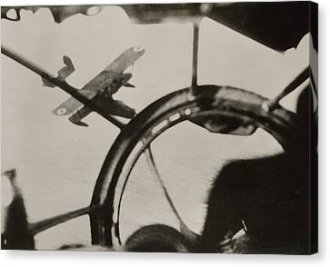 Air Combat Canvas Print by Eye On The Reich: German Propaganda Photographs/new York Public Library