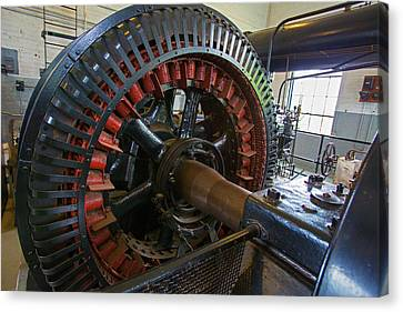 Old Mine Canvas Print - Air Compressor At An Iron Ore Mine by Jim West