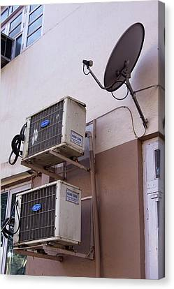 Air-conditioners And Satellite Dish Canvas Print