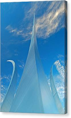Canvas Print featuring the photograph Air Force Memorial by Michael Donahue