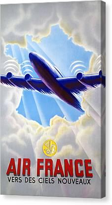 Air France Canvas Print by Mountain Dreams