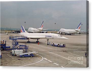 Air France Sst Canvas Print by Thomas Marchessault